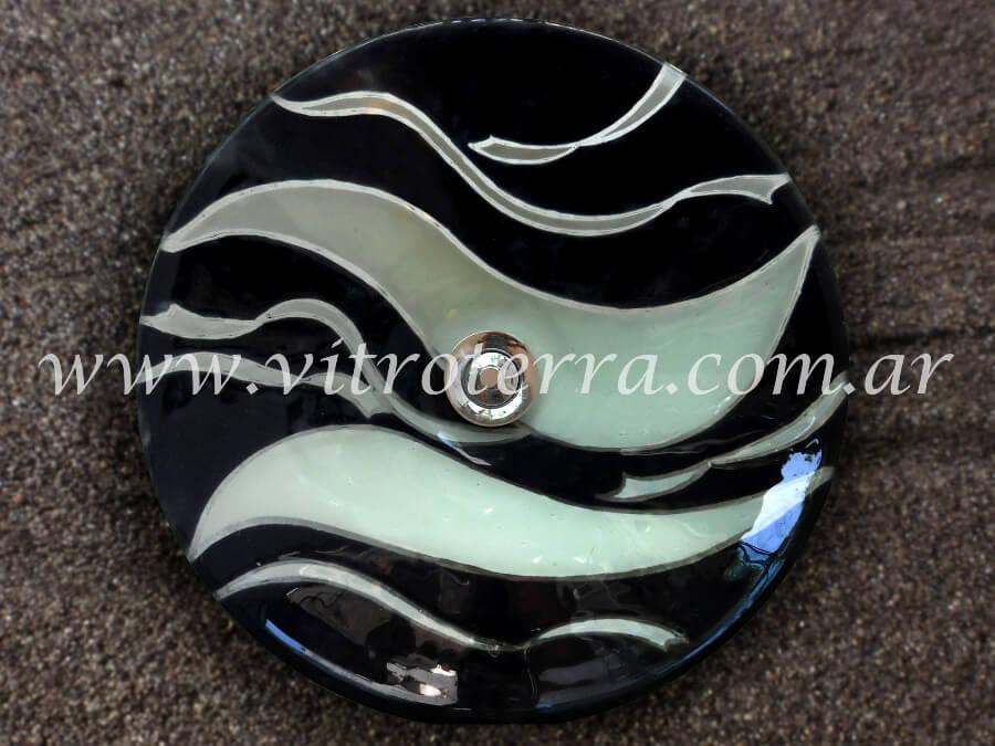 Bacha circular de vidrio Acerca de Blancos y Negros