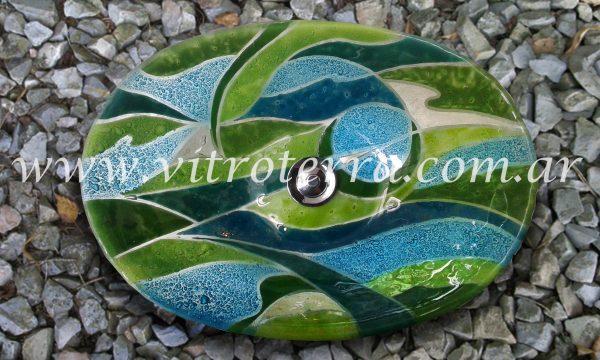 Bacha oval de vidrio Aimeé