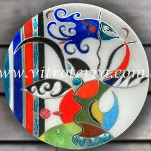 Centro circular de vidrio Aladin