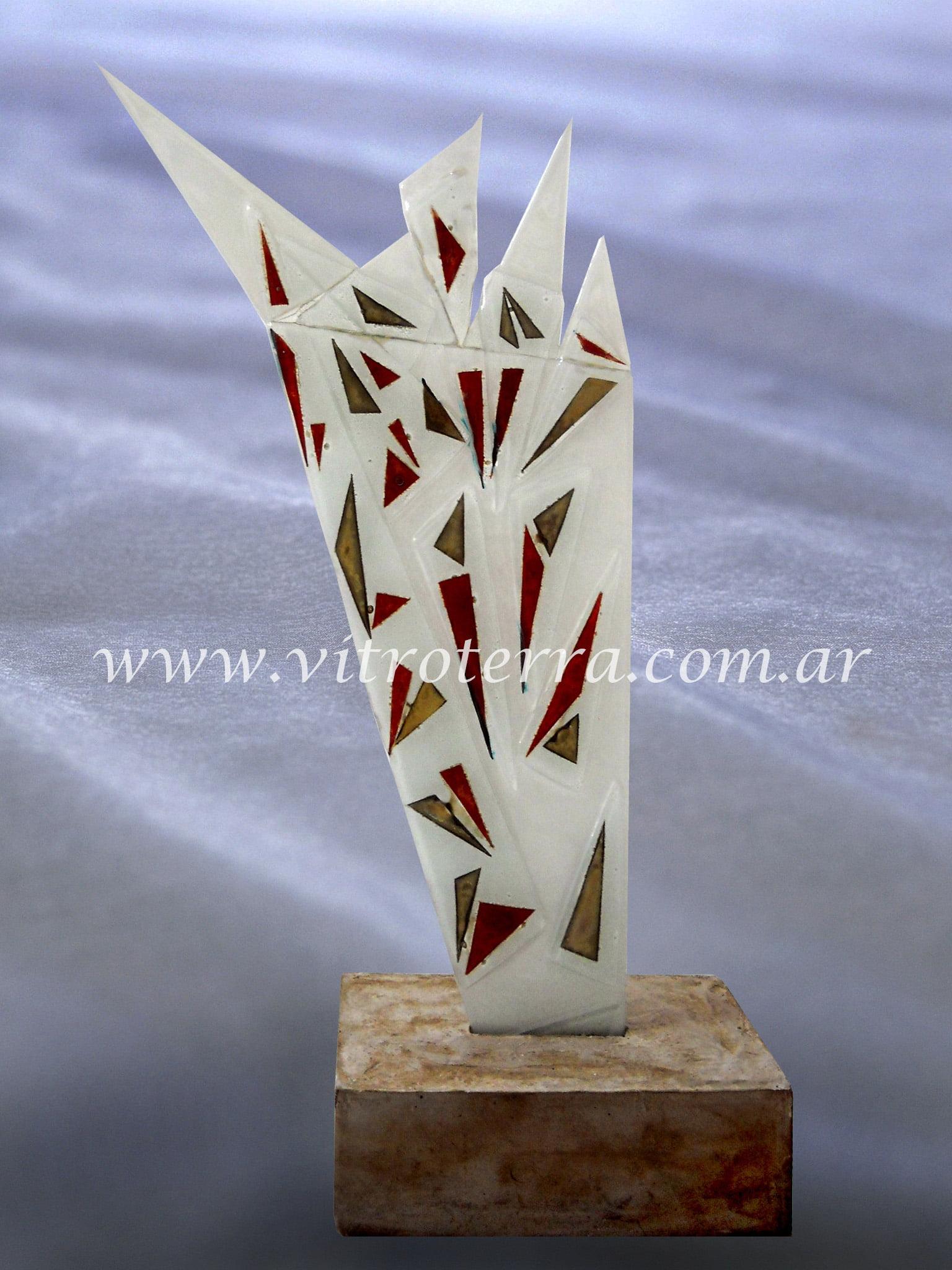 Escultura de vidrio modelo Alas