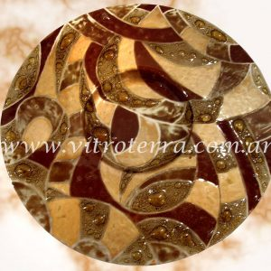 Centro circular de vidrio Andino