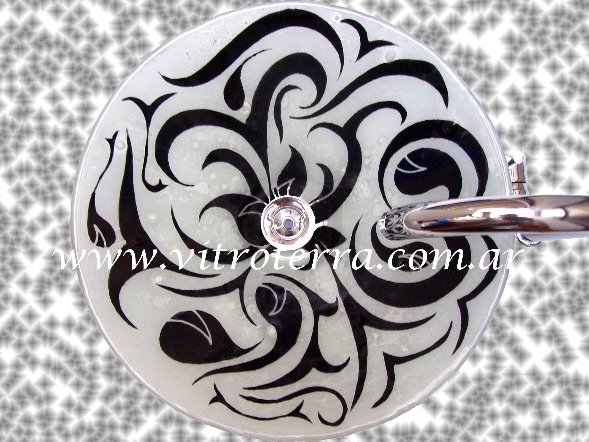 Bacha circular de vidrio Arábiga