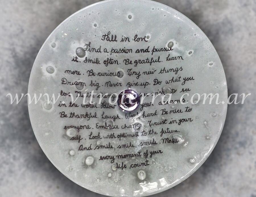 Bacha circular de vidrio Arte Live