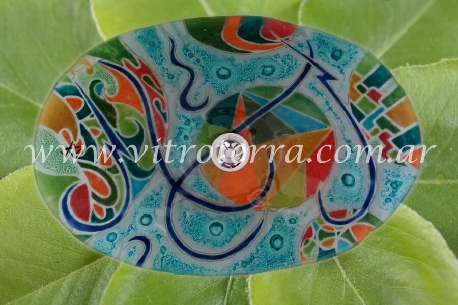 Bacha oval de vidrio Aruba