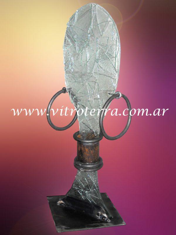 Escultura de vidrio modelo Africana