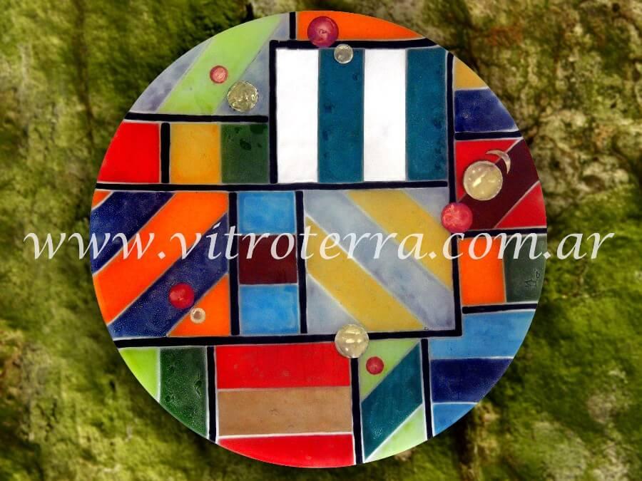 Centro circular de vidrio Bongo