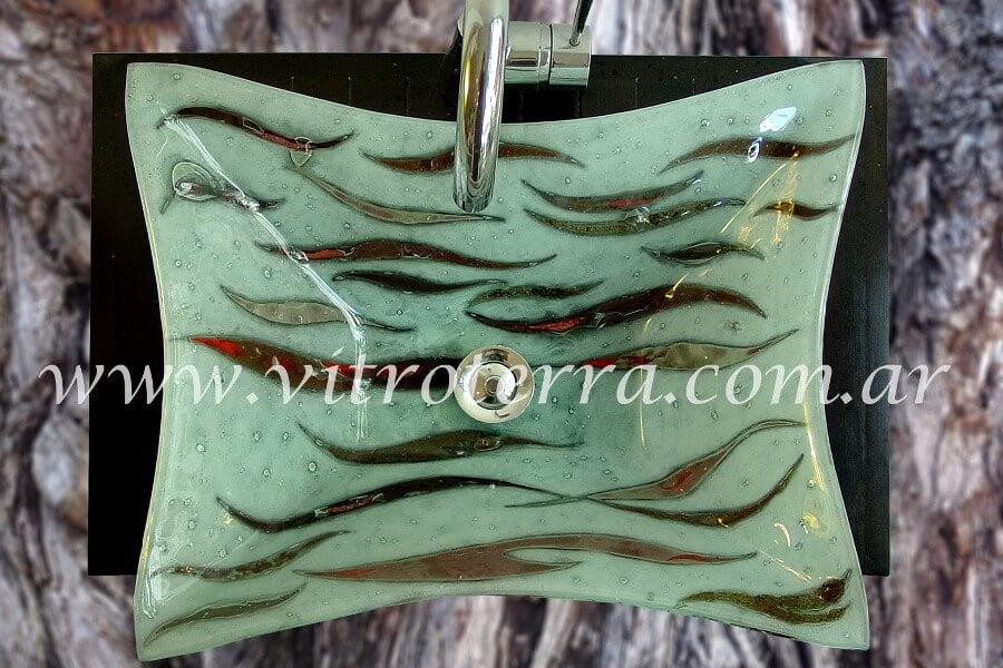 Bacha rectangular de vidrio Brownie