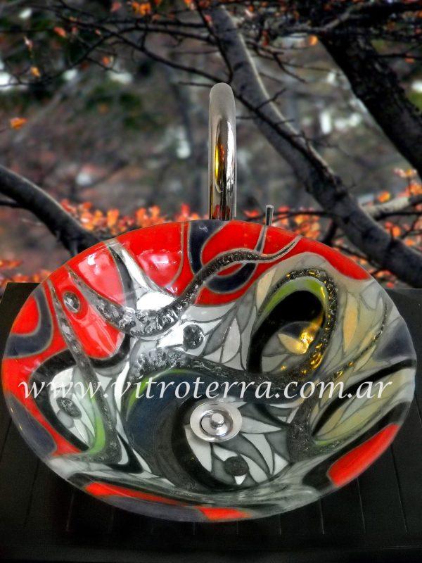 Bacha circular de vidrio BP-Celina
