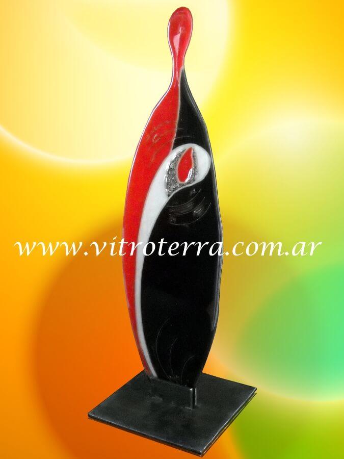 Escultura de vidrio modelo Corazón Femenino