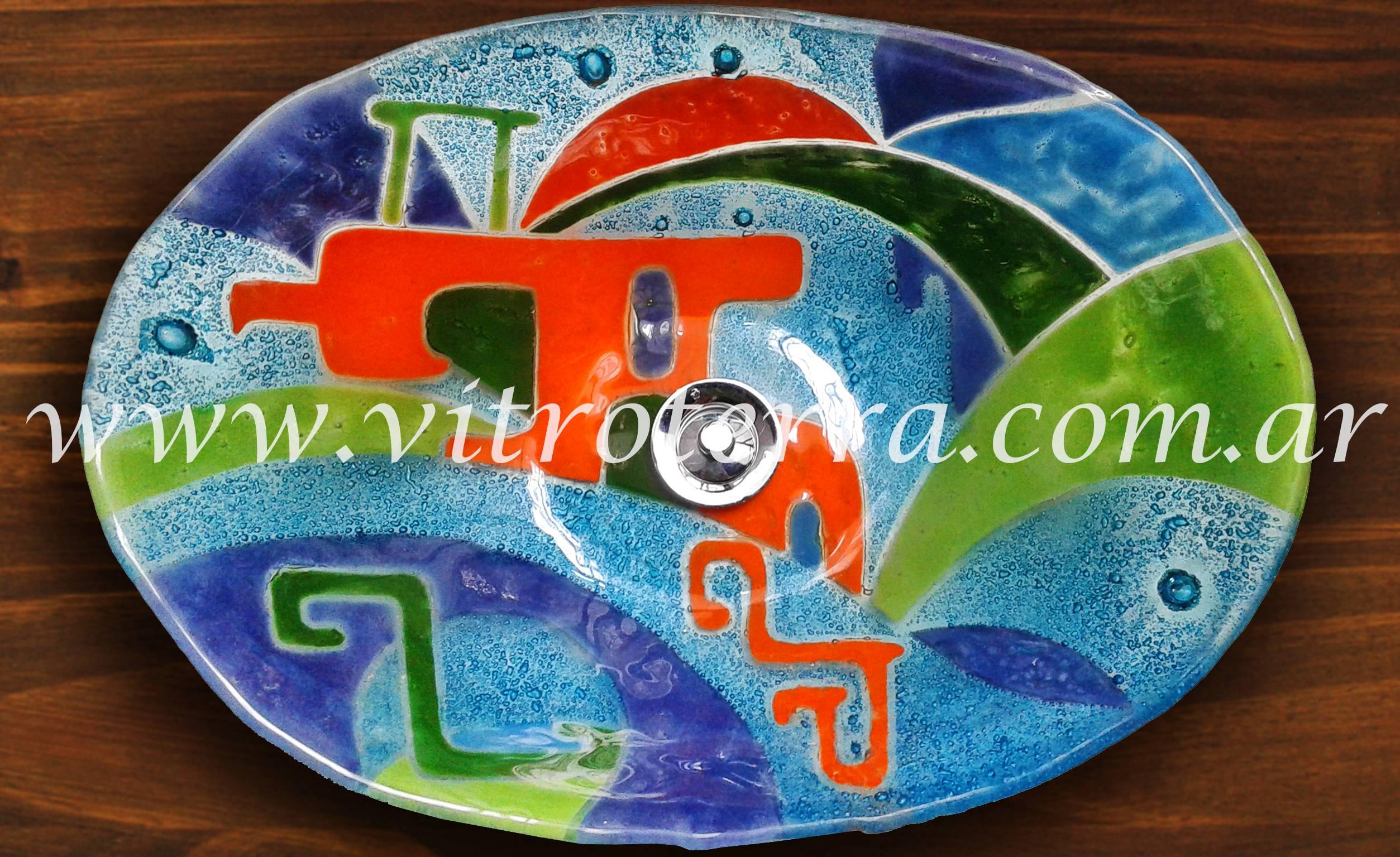 Bacha oval de vidrio Daina