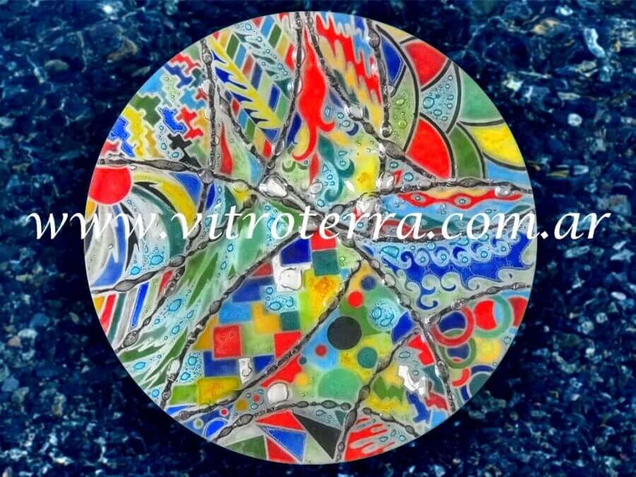 Centro circular de vidrio Intensidad