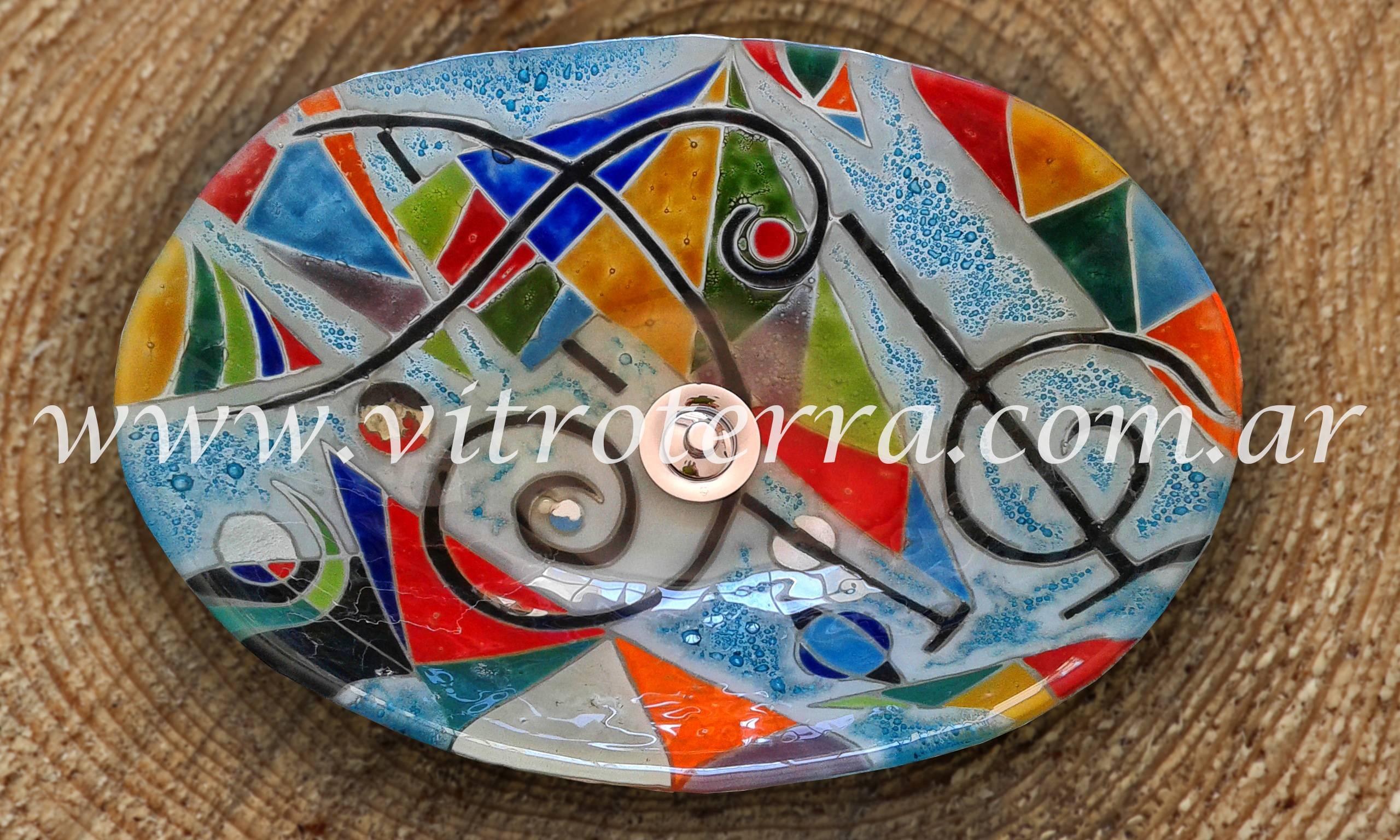 Bacha oval de vidrio Kandinsky