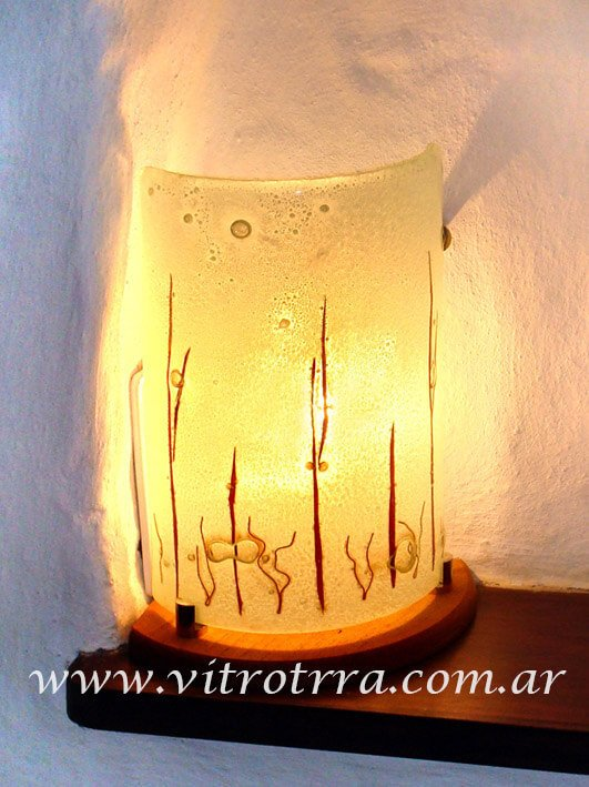 Lámpara de vidrio modelo Llamas
