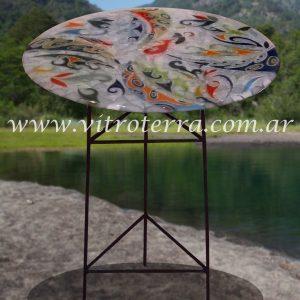 Mesa de vidrio modelo Rueda