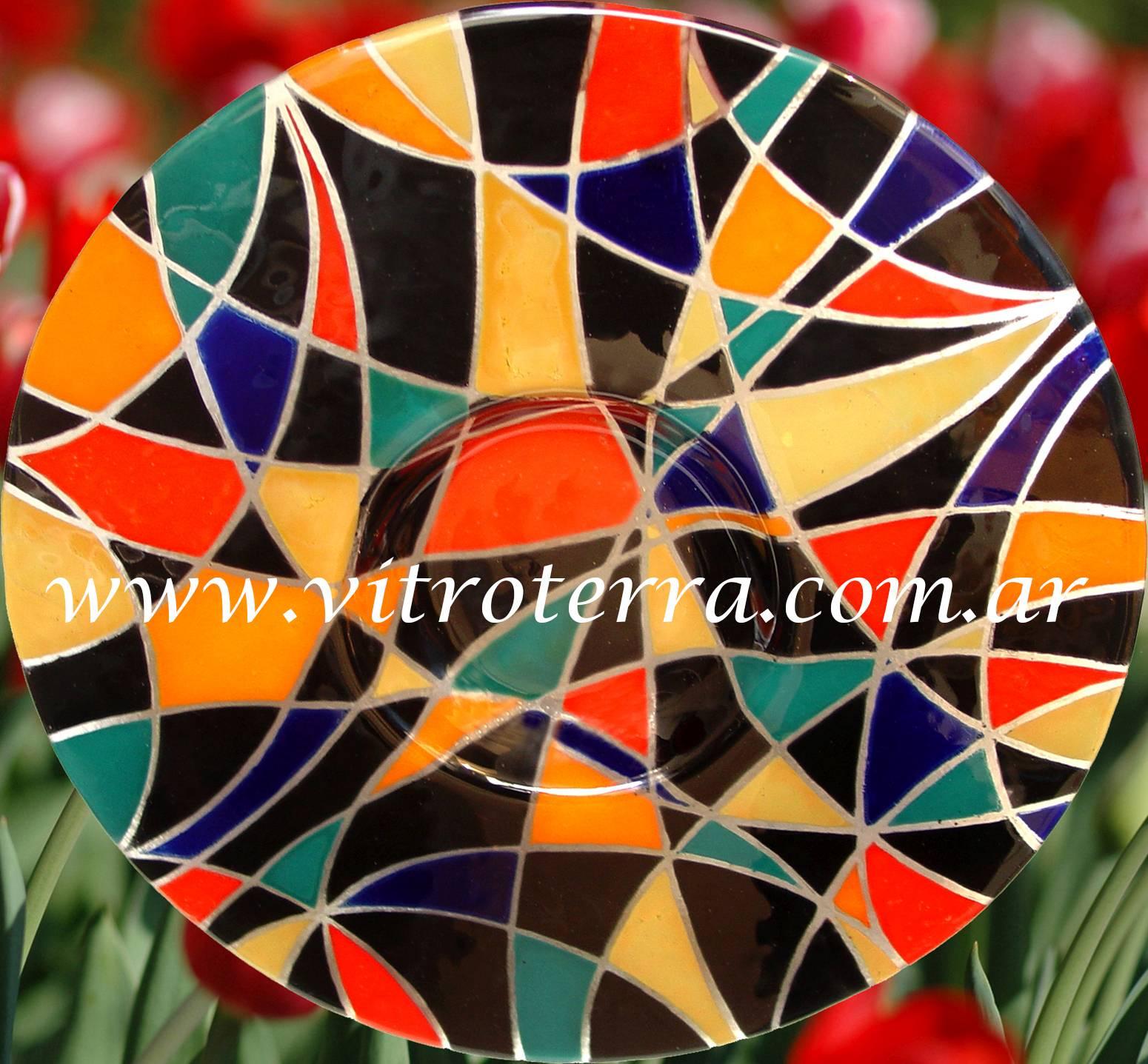 Centro circular de vidrio Miró