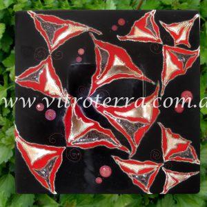 Centro cuadrado de vidrio Noctilucas