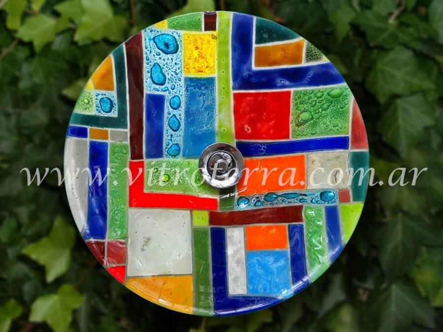 Bacha circular de vidrio Times-Square