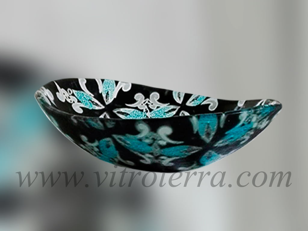 Bacha oval de vidrio Túnez