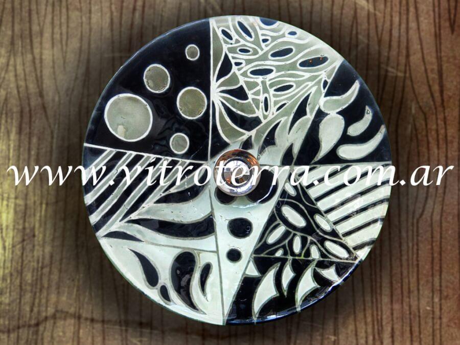 Bacha circular de vidrio Two-Tones