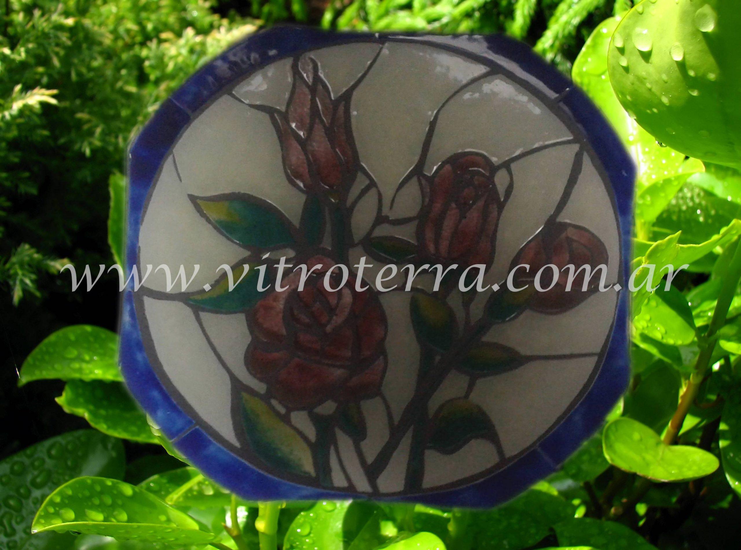 Centro circular de vidrio Viejos-Tiempos