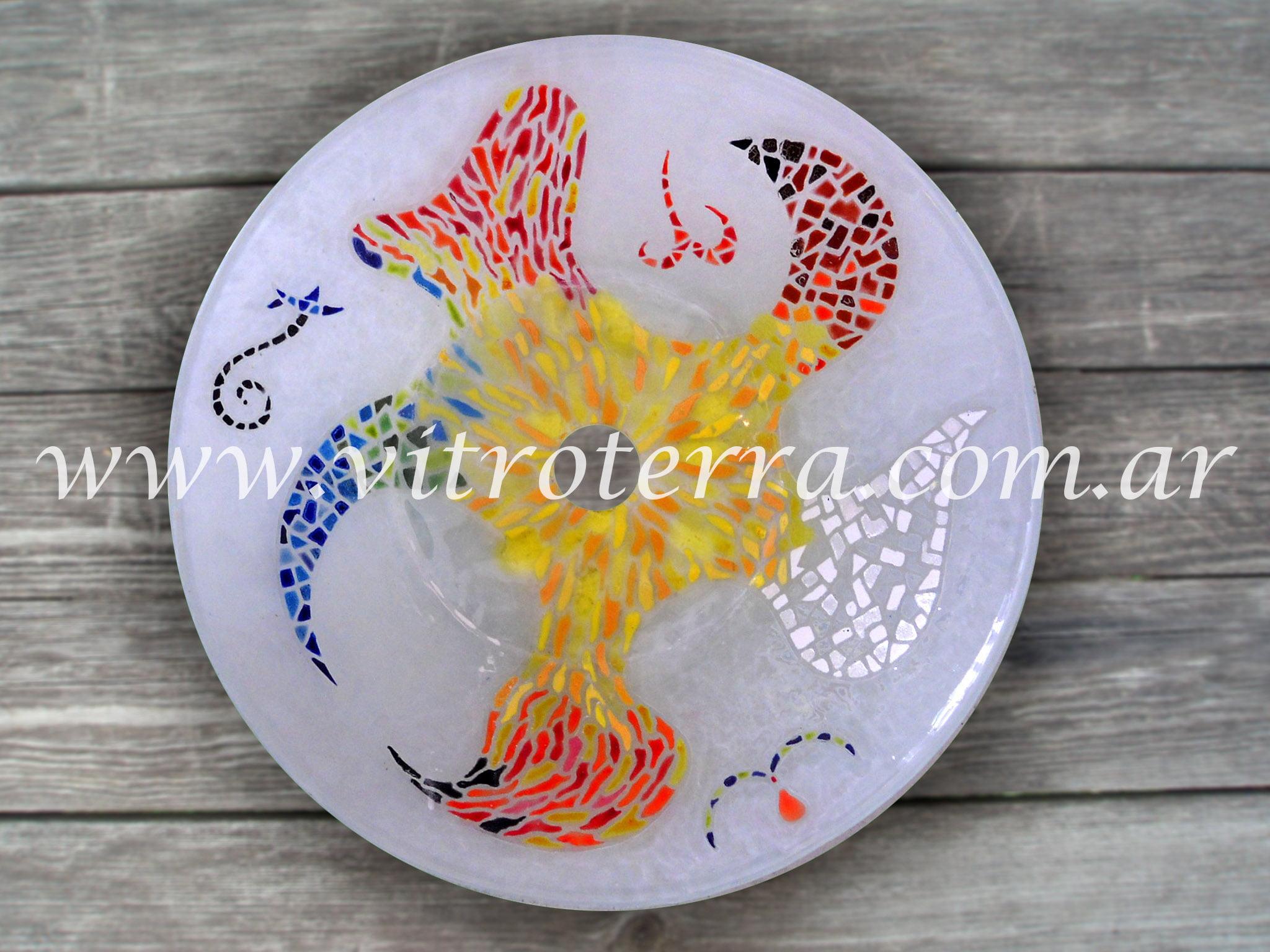 Bacha circular de vidrio BP-Violeta