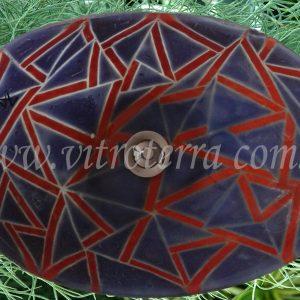 Bacha oval de vidrio Violette