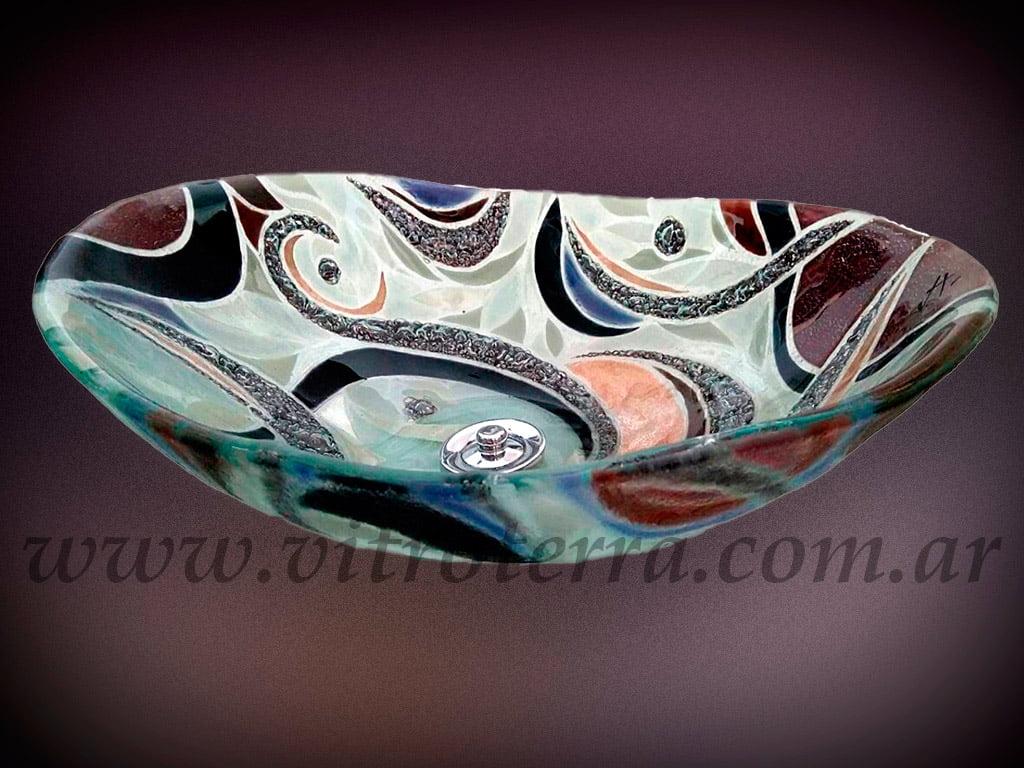 Bacha oval de vidrio Marroquí-Obispo