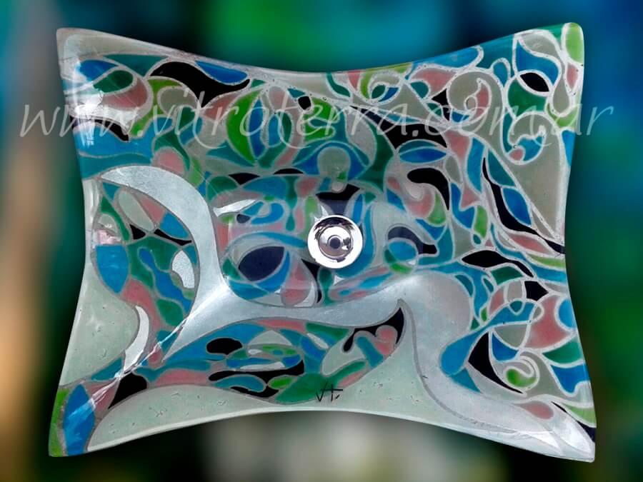 Bacha rectangular de vidrio Eugenia