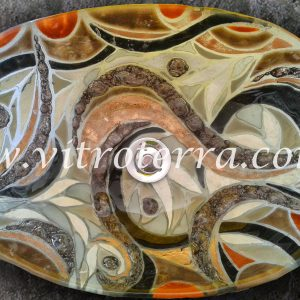 Bacha oval de vidrio Marroquí