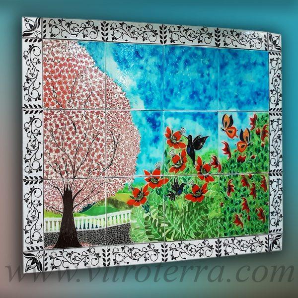Cuadro de vidrio modelo De jardines y de magia